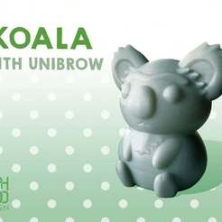 Download free 3D print files Koala with unibrow, Erik_Glyphwood