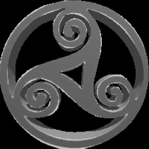 triskel.png Download STL file Celtic triskel • Template to 3D print, asturmaker3d