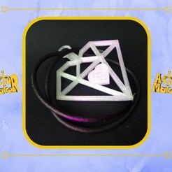 Download 3D printer designs Heart squared pendant, asturmaker3d