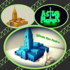 Modelos 3D para imprimir Iglesia de San Pedro (Gijón Asturias), asturmaker3d