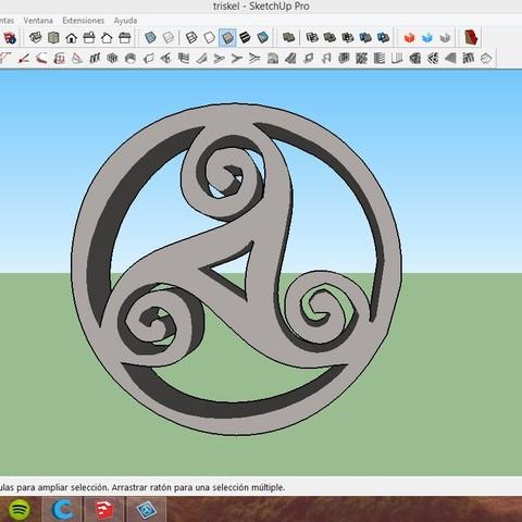 2015-03-29_0-48-02.jpg Download STL file Celtic triskel • Template to 3D print, asturmaker3d