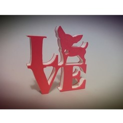 chihuahua love.jpg Download STL file Love Chihuahua • 3D print template, asturmaker3d