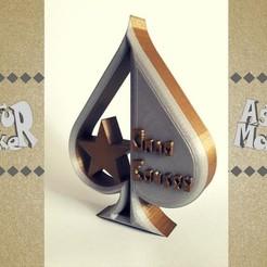 3D printer models Poker Trophy, asturmaker3d