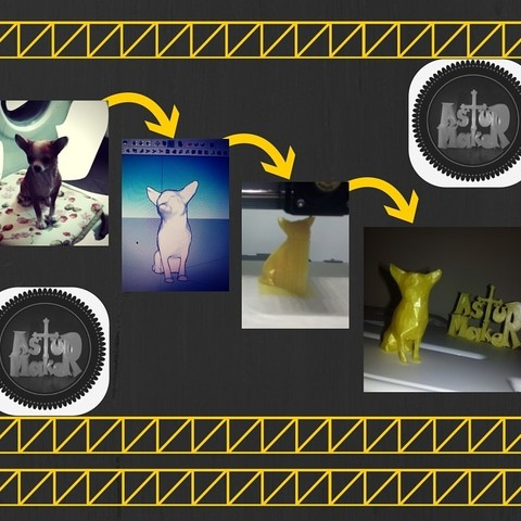Coty Low Poly.jpg Download STL file Chihuahua low poly • 3D printer design, asturmaker3d