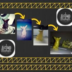 Modelos 3D para imprimir chihuahua low poly, asturmaker3d