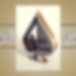 Download STL file Poker Trophy (ace of spades) • 3D printable object, asturmaker3d
