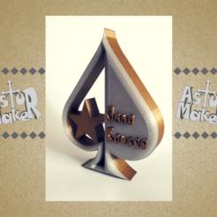 Download 3D printing files Poker Trophy (ace of spades), asturmaker3d