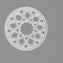 Download STL file rose window • 3D printing object, remus59