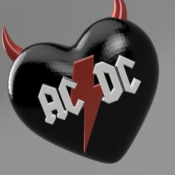 ACDC Coeur v8.jpg Download STL file ACDC logo heart with horns • 3D printable object, remus59
