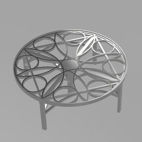 Download free 3D printing designs table rosace, remus59