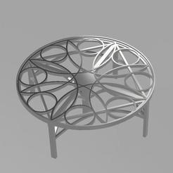 Objet 3D gratuit table rosace, remus59