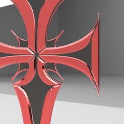 croix gothique v3.jpg Download STL file croix gothique • 3D printer template, remus59