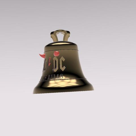 download stl files ac dc bell with horns cults. Black Bedroom Furniture Sets. Home Design Ideas