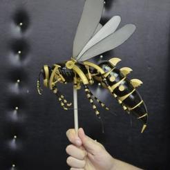 Download free 3D printer templates Wasp mechanical killer robotic , Dape