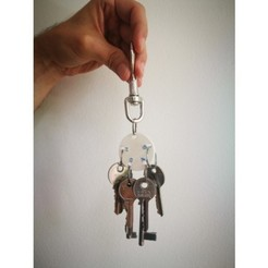 Free Key organizer/holder STL file, Dape