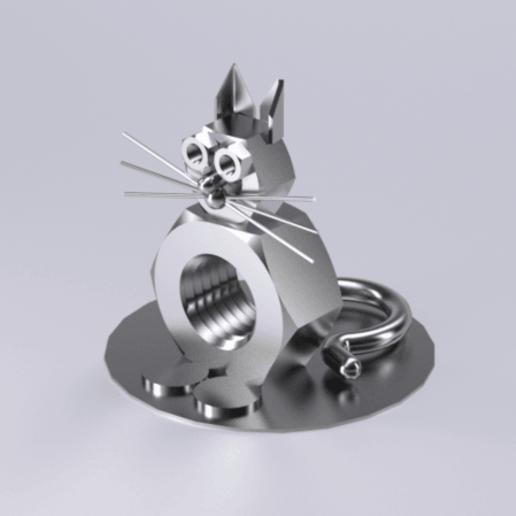 Download free 3D printing designs Cat figure mechanical, Dape