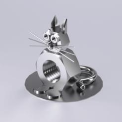 Descargar archivo 3D gratis La figura del gato es mecánica, Dape