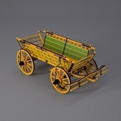 carriage.jpg Télécharger fichier STL gratuit Transport • Objet pour imprimante 3D, Dape