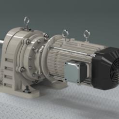 10217.800x450.png Télécharger fichier STL gratuit Moteur à engrenages - Montage au pied • Objet imprimable en 3D, Dape
