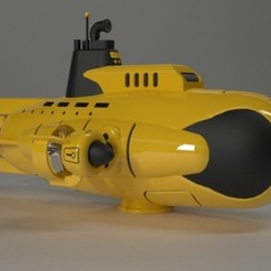 submarine toy.jpg Download free STL file Submarine toy • Template to 3D print, Dape