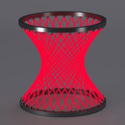 hyperboloid render.png Download free STL file Hyperboloid • 3D printable template, Dape