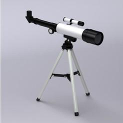 telescope render.jpg Télécharger fichier STL gratuit Télescope • Plan à imprimer en 3D, Dape