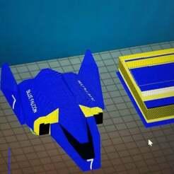 20190128_162622.jpg Download free STL file Blue Falcon MultiColor Remix • Template to 3D print, xile6