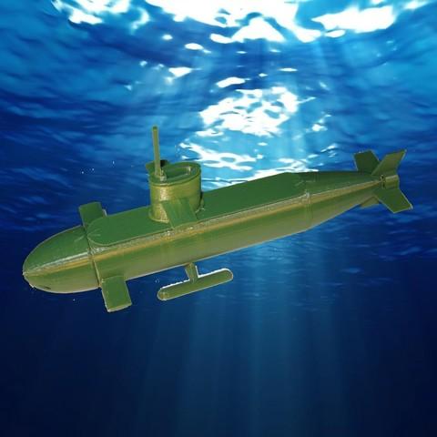 Free 3d print files Submarine, delmich