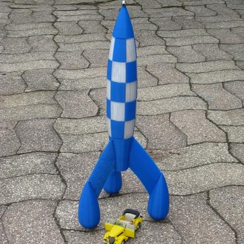 Free STL Tintin rocket (Tintin Rocket), delmich