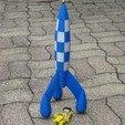 Télécharger fichier STL gratuit Fusée Tintin (Tintin Rocket) • Design pour impression 3D, delmich