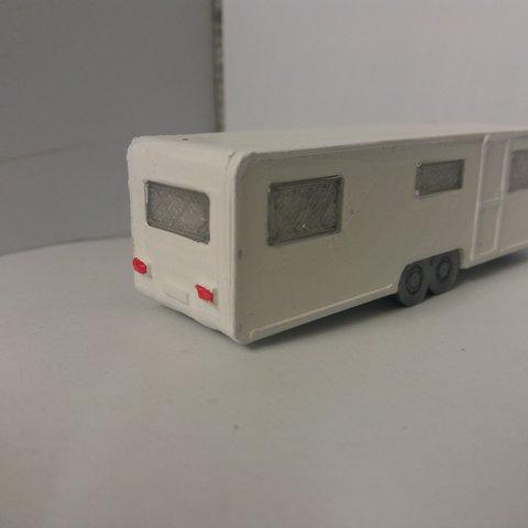 plan 3d Caravane 6 Places double essieux, dede34500