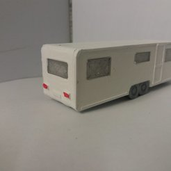 3D printer models Caravan 6 double axle seats, dede34500