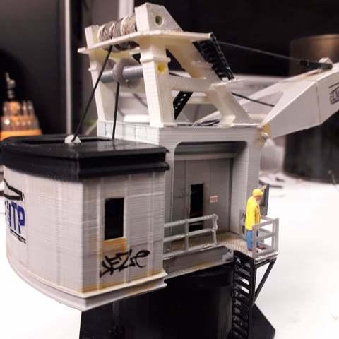 STL files Loading or unloading crane or port crane, dede34500