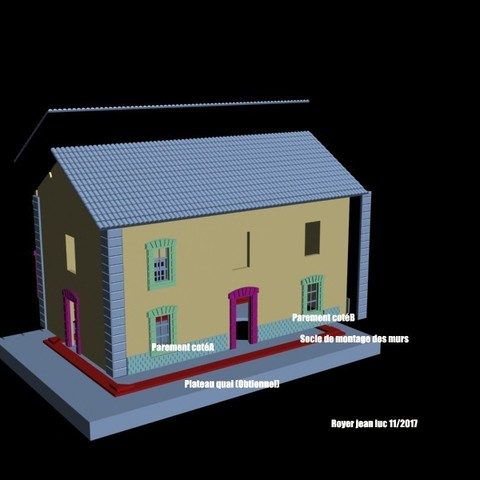 Vue3Declate_verso.jpg Download STL file Station 3 Doors PLM Coursan • 3D print model, dede34500