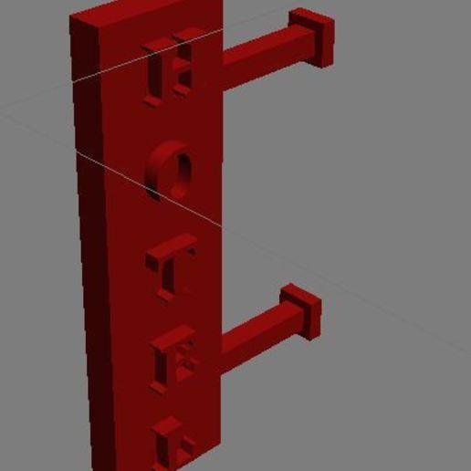 Download free 3D printer designs Hotel sign, dede34500
