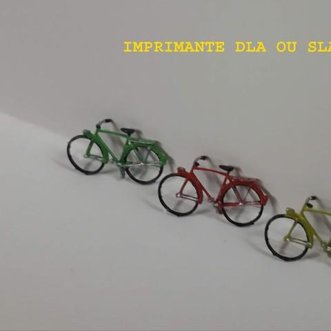 Descargar archivos STL Bicicleta de ciudad (muy detallada) 1/87, dede34500