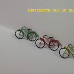 Download 3D printing files City bike (very detailed) 1/87, dede34500