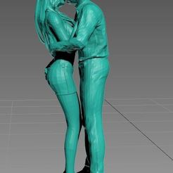 Le baiser.JPG Download STL file Character Ho, the Kiss in Love • 3D printable design, dede34500