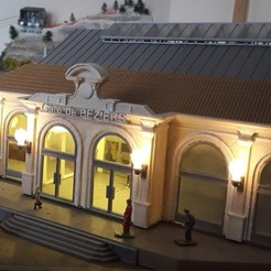 Descargar STL La estación de tren de estilo Neo-Louis XIII en HO, dede34500