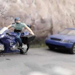 Descargar archivos STL Motociclista de la policía o la gendarmería francesa, dede34500