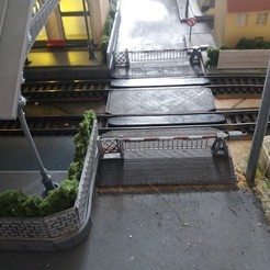 3D print files 1900 level crossing with rail crossing, dede34500