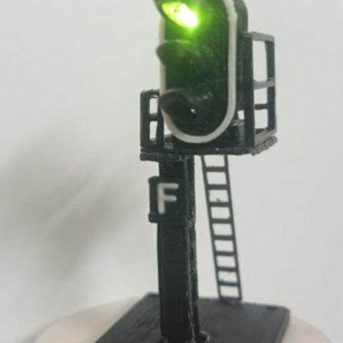 Download 3D printer model Signal 3 Lights signaling Semaphore, dede34500