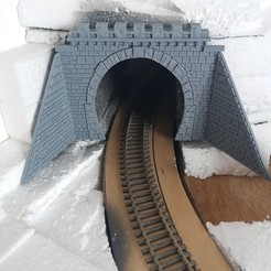 3D print files HO tunnel for 1 lane with support, dede34500