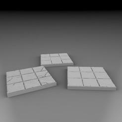Impresiones 3D gratis Baldosas básicas - 3x3, 3DB