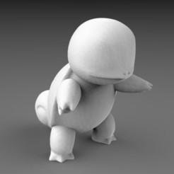 untitled.33.jpg Télécharger fichier STL POKEMON - HAUTE RES - #007 Squirtle • Design à imprimer en 3D, 3DB
