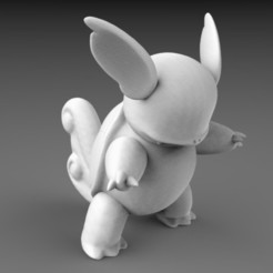 Download 3D printing templates POKEMON - HIGH RES - #008Wartortle, 3DB
