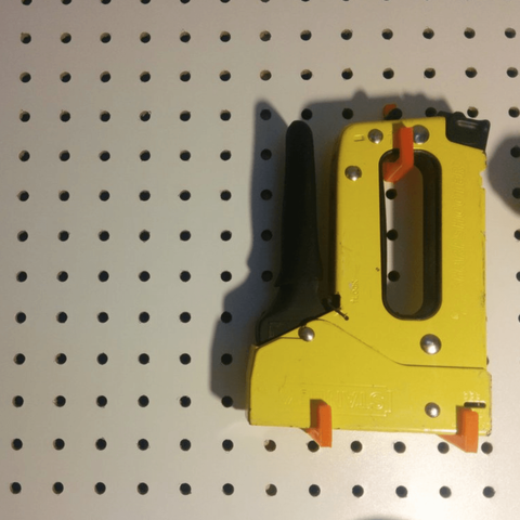 Free 3d printer designs pegs for staple gun., tarek