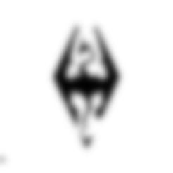 Skyrim logo.STL Download free STL file Skyrim logo • Model to 3D print, Spacegoat