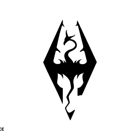 Skyrim.png Download free STL file Skyrim logo • Model to 3D print, Spacegoat