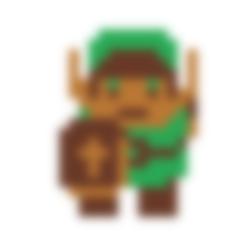 Download free STL file Zelda Link cookie cutter • 3D printing design, Spacegoat